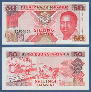 Unc P.23 Lustrous 1993 Ingenious Tansania Tanzania 50 Shillingi