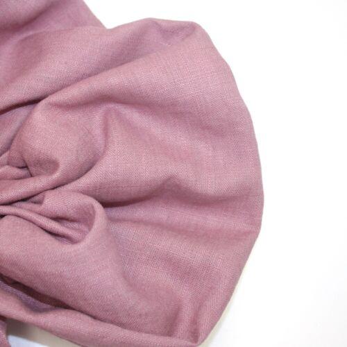 Fabric Dressmaking Fashion Interior Dusty Mauve H /& H Bio Washed 100/% Linen