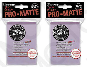 100-2pk-ULTRA-PRO-Pro-Matte-Deck-Protector-Card-Sleeves-Magic-Standard-Lilac