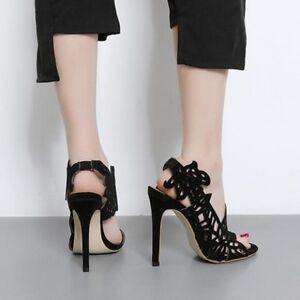Femmes Confortable Cm Sandales 12 Talons 5 Noir Comme Talon Aiguilles Élégant S6dBdfHx
