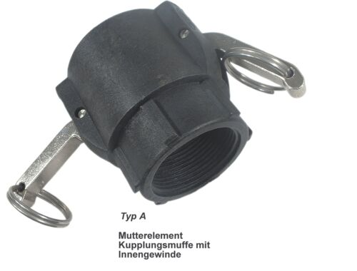 """Kupplungen Camlock Hebelarm Kamlock - Kamlok Dichtungen  Kunststoff 1/""""- 2/"""""""