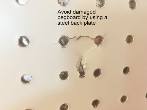 Peg Hook Steel Backing Plate for Reinforcement of Pegboard Hooks 20 Pack