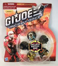 GI JOE Micro Force 5 PACK Ninja Cobra Cake Topper Roadblock Assassin Gold NIP
