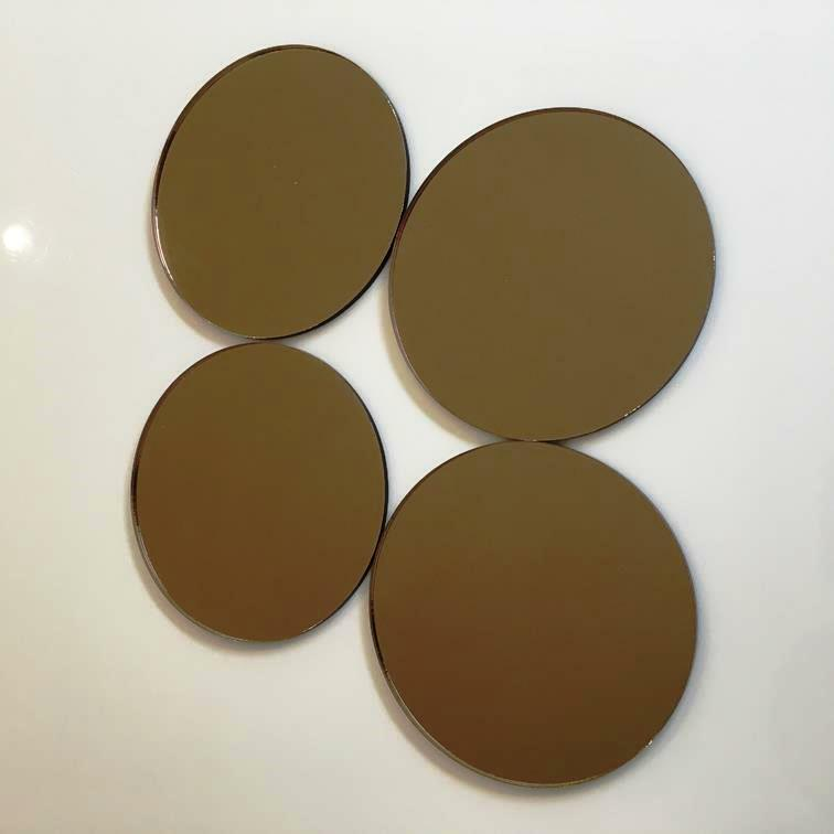 Bronze MirroROT Acrylic Circle Crafting Mosaic/Wall Tiles Größes 1cm-20cm 1