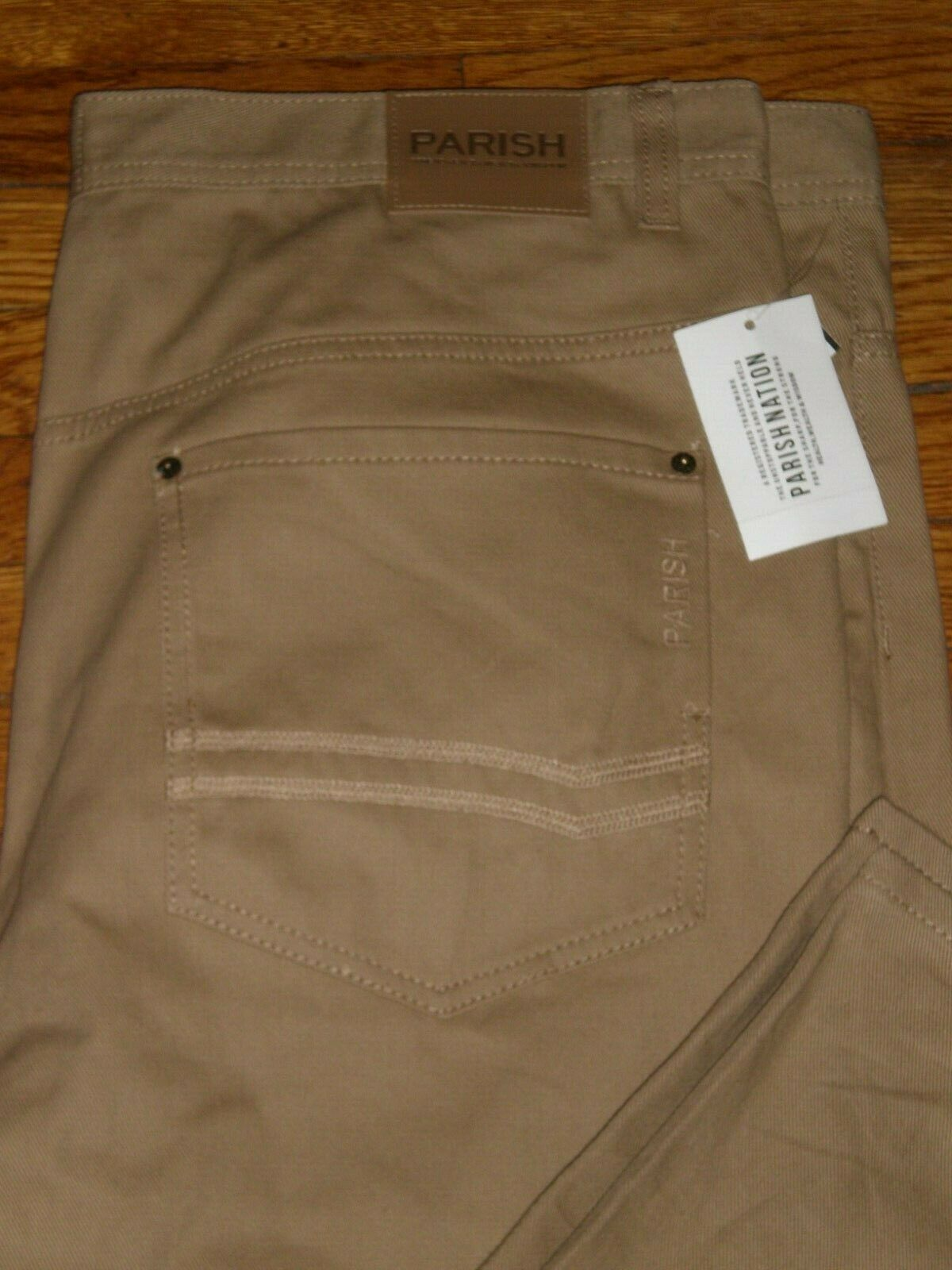 NWT PARISH NATION KHAKI Twill Casual Pants SZ  46 X 32