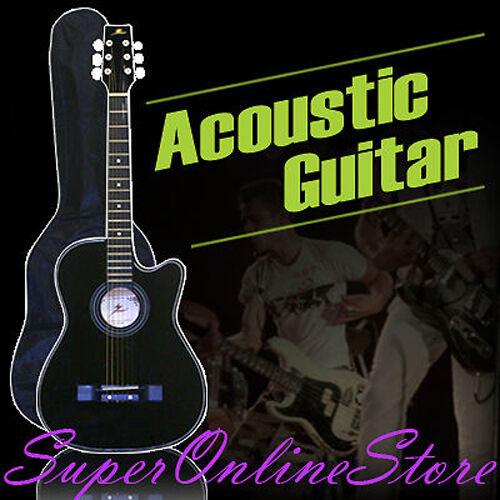 Goldenage Acoustic Cutaway Guitar Black Steel String