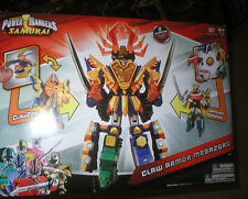 POWER RANGERS SAMURAI CLAW ARMOR MEGAZORD, 2 MEGAZORDS INCLUDED, NEVER OPENED