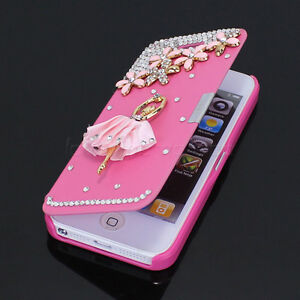 cute iphone 5 cases for girls lovely ballet bling rhinestone for iphone 5 5g 2867