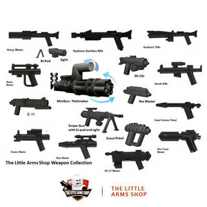 lego star wars little arms blaster waffen set 17 waffen zub fur minifigure ebay. Black Bedroom Furniture Sets. Home Design Ideas