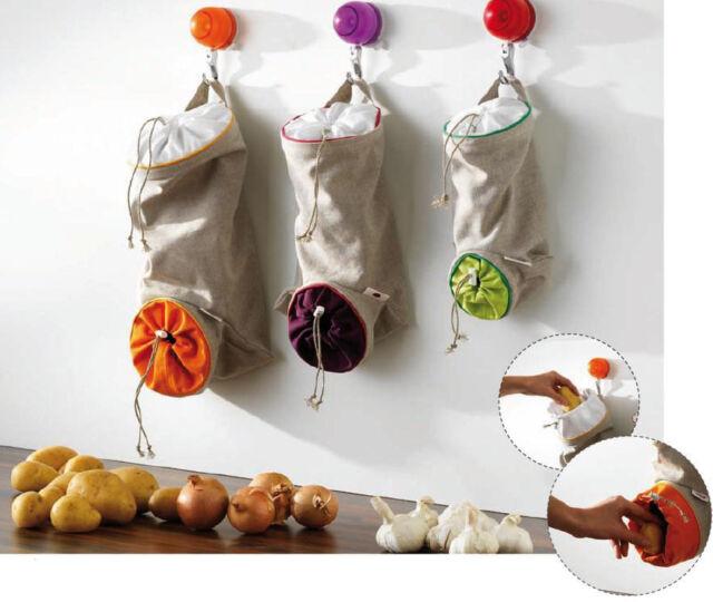 Mastrad Garlic Onion Or Potato Vegetable Storage Bag Keeps Veggies Fresh Longer