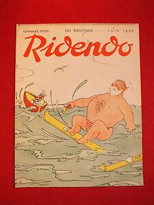 REVUE-HUMORISTIQUE-RIDENDO-N-231-JUIN-1959-SKI-NAUTIQUE