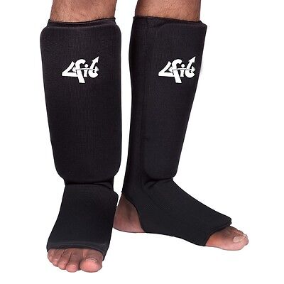 MMA Muay Thai Black Guards Pads Boxing ARD CHAMPS™ Shin Instep Protectors