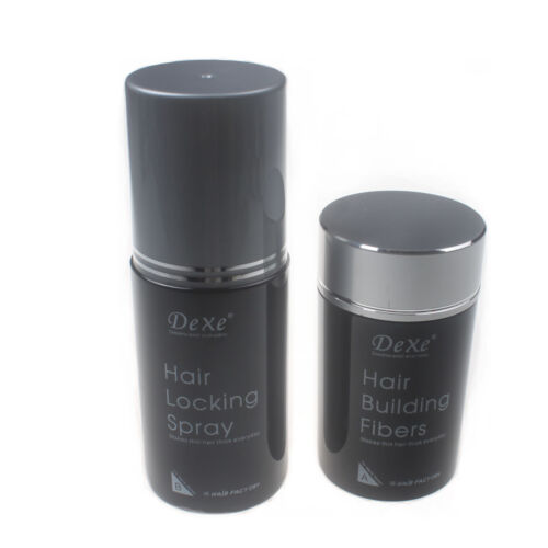 NEW 22g Mix Color Hair Building Fiber Dexe Choose & Hair Locking Spray 100ml Set