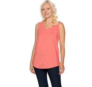 C-Wonder-Essentials-Tank-with-Scoop-Neck-and-Shirttail-Hem-Duchess-Pink-Size-M