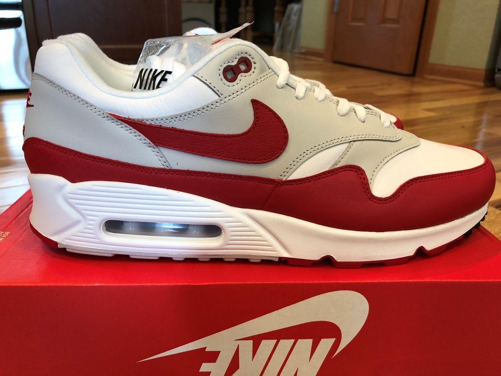 Nike aj7695 air max 90 / 1 white university red aj7695 Nike 100 uomini numero 13 noboxtop 811aa7