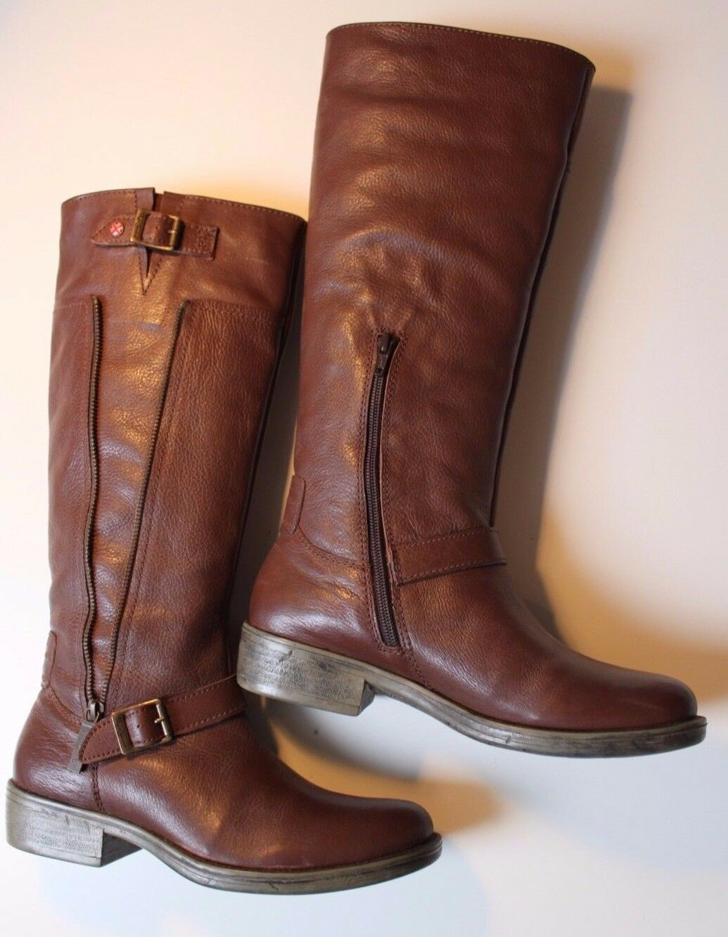 Pepe Jeans Dietrich Moto Stiefel Gr. Schuhe -Tobacco Gr. Stiefel 39 - w.NEU + OVP (NP  ) b25058