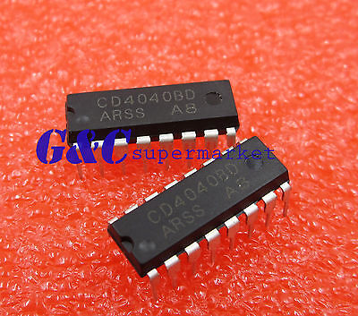 3pcs CD4040 4040 Ripple-Carry Binary Counter//Divider IC NEW GOOD QUALITY
