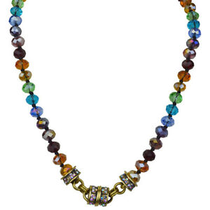 Kirks-Folly-Rainbow-Memories-Beaded-Magnetic-Interchangeable-Necklace-Brasstone