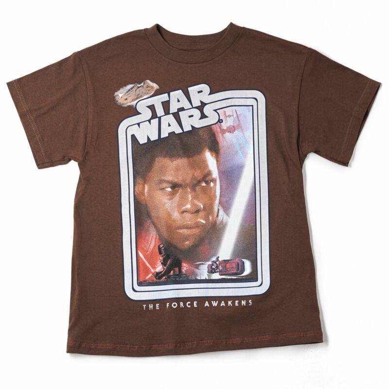 Nwt Star Wars Youth Tshirt Age 8-20 Finn The Hero Brown
