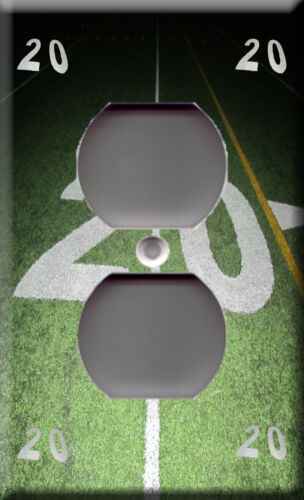 20 yard line football field game Sport champion Light Switch Plate Cover