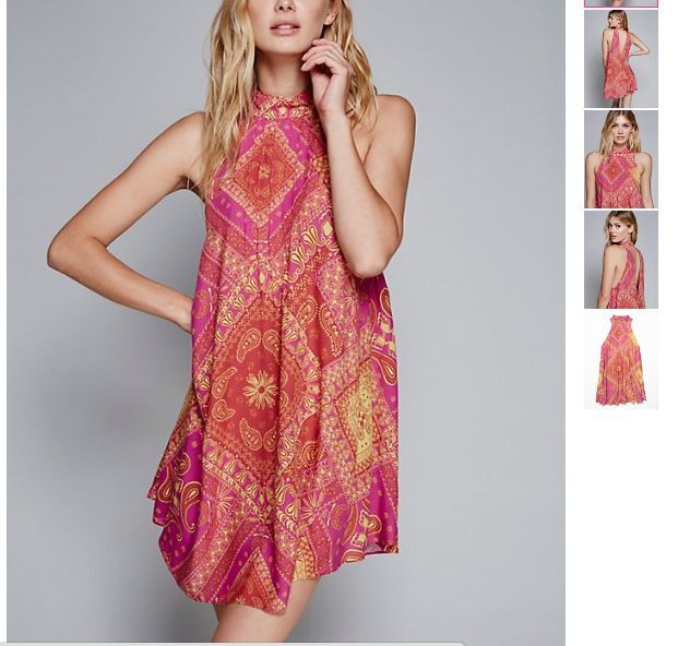 NWT ☮ FREE PEOPLE Beaux Red Combo Combo Combo Printed Slip Dress☮ SMALL 461071