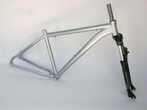"NEW Gravity 29 Point 1 Aluminum Hardtail Mountain Bike Frame Fork 19/"" Silver"