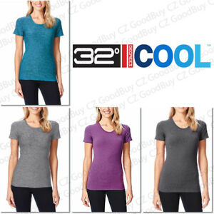 Women-039-s-32-Degrees-COOL-Weatherproof-Short-Sleeves-Scoop-Neck-Tee-TShirt-NEW