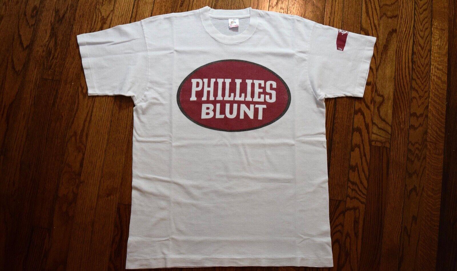 1992 NFC Futura Stash PHILLIES BlauNT vintage 90s t-shirt hip hop rap gangstarr L