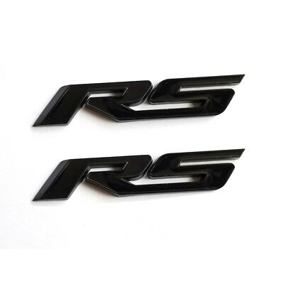 1x OEM Black RS Emblem Badgel Decal for GM CHEVROLET TRUNK GM Camaro  WU NEW