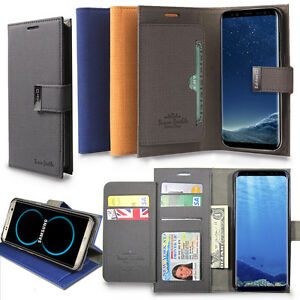 Dual-Fiber-wallet-Case-Card-Book-Flip-Case-Cover-for-Galaxy-Note-9-S8-S9-Plus