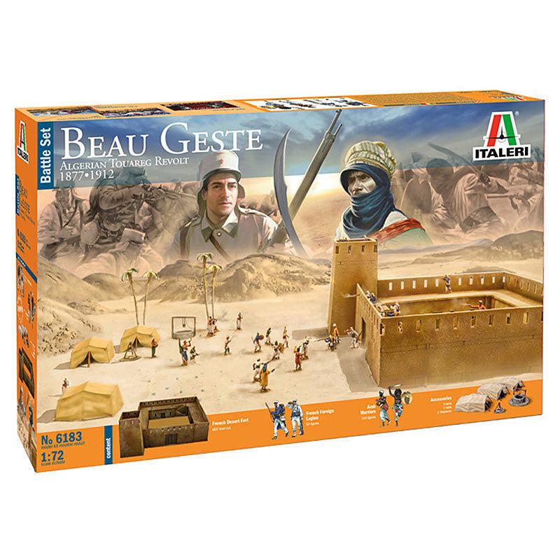 Italeri Beau Gesture Algerian Tourag Revolt Battle Set 1 72 Item 6183 Diorama
