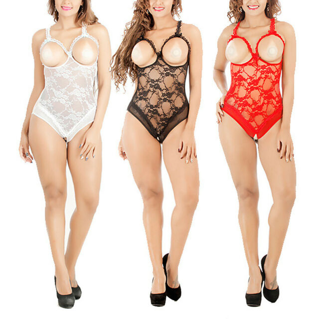 outlet on sale preview of official images Women Sexy Lace Lingerie Open Bra Costumes Open-Crotch Babydoll Sleepwear