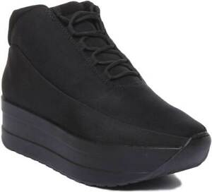 Vagabond Casey Womens Fabric Dark Grey Platform Sneakers Size UK 3-8