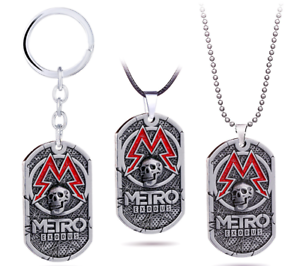 Game-Metro-Exodus-2033-Necklace-Punk-Skull-Dog-Tag-Pendant-Charms-for-Men-Gift
