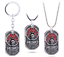 Game-Metro-Exodus-2033-Necklace-Punk-Skull-Dog-Tag-Pendant-Charms-for-Men-Gift miniature 1