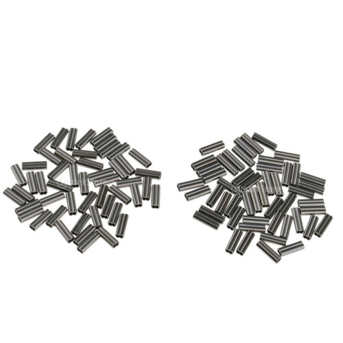 100pcs Double Barrel Fishing Crimps Sleeves for Rig Making 1mm //1.2mm Bore