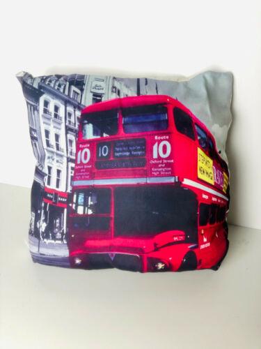 Coussin deco Londres Bus déco Zierkissen Décoration Canapé Coussin 35x35 cm NEUF