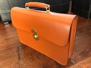 Rutherfords English Bridle Leather Briefcase Like Swaine
