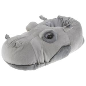 Flusspferd-Hippo-Tier-Hausschuhe-Pantoffel-Schlappen-Nilpferd-Pluesch-36-48