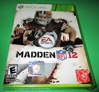 Madden Nfl 12 Microsoft Xbox 360 Sealed (small Hole In Cellophane)