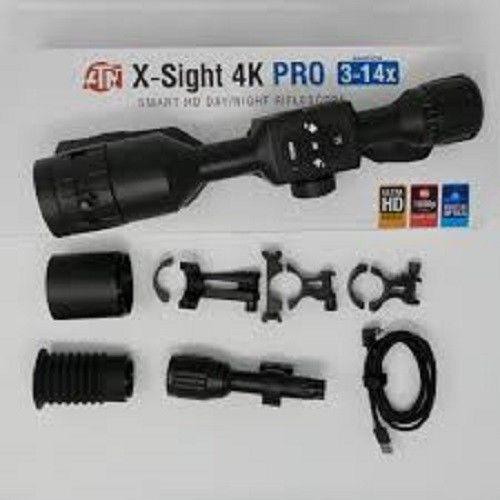 ATN X-Sight 4K Pro 3-14x jour nuit intelligent Chasse Portée, noir-dgwsxs 3144KP