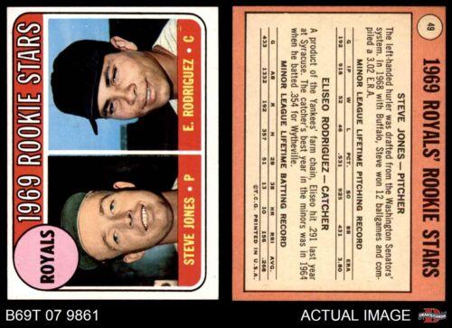 Royals Rookies Rodriguez EX//MT Ellie Rodriguez 1969 Topps #49 Steve Jones