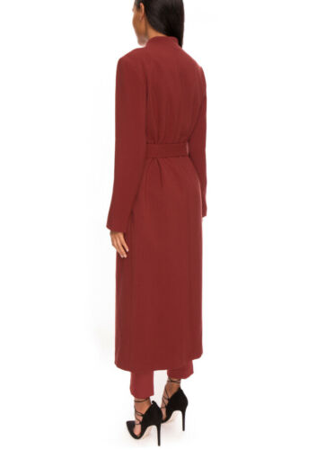 Red Recuerdo Coat Take para S Size Straight Two mujer wqT4fxYB
