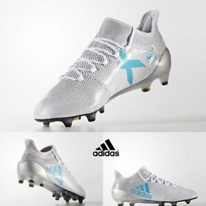 Details about Adidas Men s Football Soccer Running X 17.1 FG Grey Blue  S82285 Size 5-11 1e61020a7a