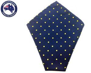 994f02ce7c88f Men's Navy Blue Yellow Polka Dots Pocket Squares Party Tuxedo ...