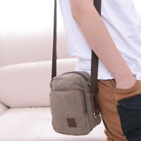Men's Stylish Small Military Canvas Messenger Shoulder Travel Hiking Bag