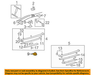 For Toyota Genuine Leaf Spring Plate Rear 4804635210