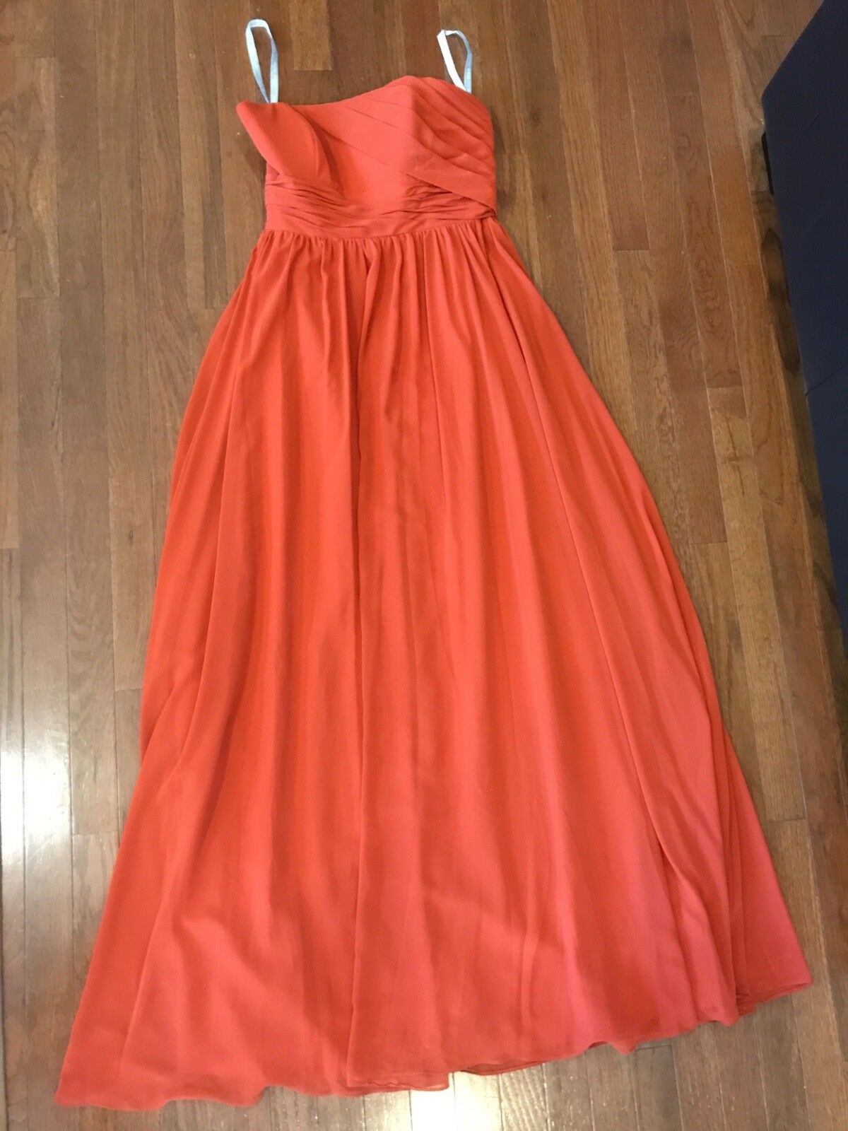 Alfred Angelo Orange full-length Bridesmaid dress size 8, worn once