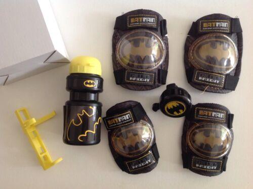 Batman vélo accessoires set de genouillères coudières Bell bouteille d/'eau Tout Nouveau