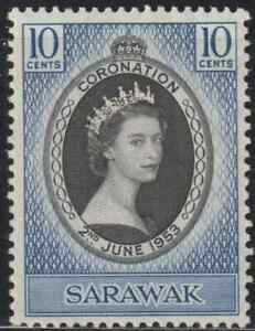 SARAWAK-1953-CORONATION-OF-QE-II-FRESH-MH-CAT-RM-15